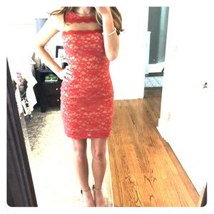 Bailey 44 red lace dress